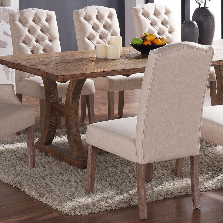 When we introduced the Lakeview dining table to the Lucian accent & side chairs, it was love at first sight. They've been inseparable ever since...  http://worldwidehomefurnishingsinc.com/lucian-side-chair-in-beige-2pk.html