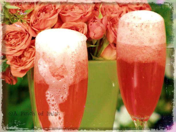 Cocktail Fragole e Champagne