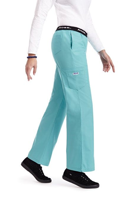 312P Flip Flap Scrub Pants - A MOBB best seller, the Flip Flap Scrub Pant features a classic boot cut fit with a logo waistband that can be flipped down for a lower rise as well as a total of 5 pockets