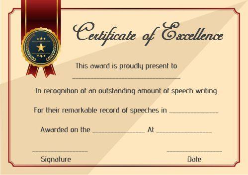 Speech Contest Winner Certificate Template: 10 Free PDF ...