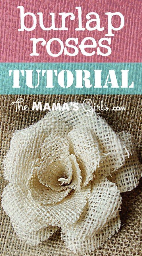Rosa feita com tecido de Juta - Saco de Batata {Craft}