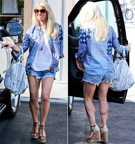 Jessica Simpson Flaunts Sculpted Legs in Daisy Dukes: See the Pictures - Us Weekly