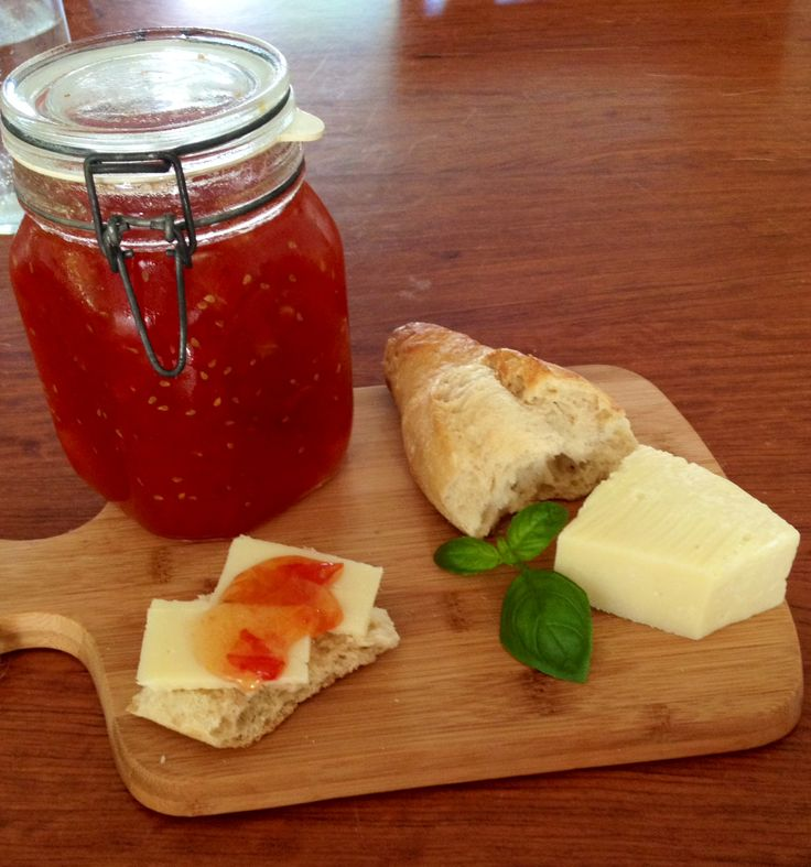 Tomato Jam. Check out the post The Making of Jam on Basil and Oil!