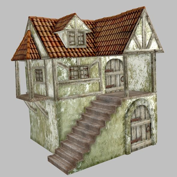 Medieval House ... <p>Medieval House</p> dirty, house, medieval, old