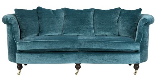 Clanfield sofa in Stanford Kingfisher  #WesleyBarrell