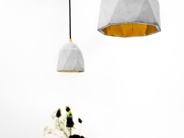Pendant Lighting – [T1] Pendant light concrete gold modern – a unique product by…