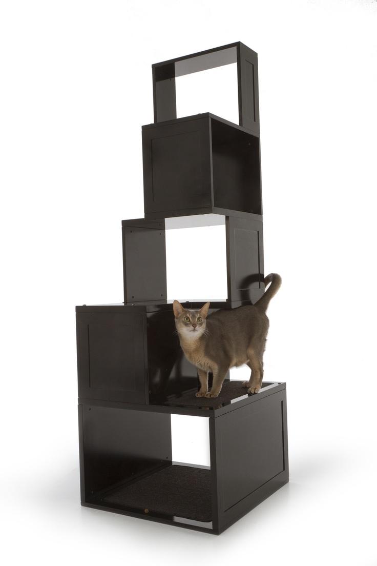best cat kids images on pinterest  cat stuff hidden litter  - designer pet products the sebastian modern cat tree