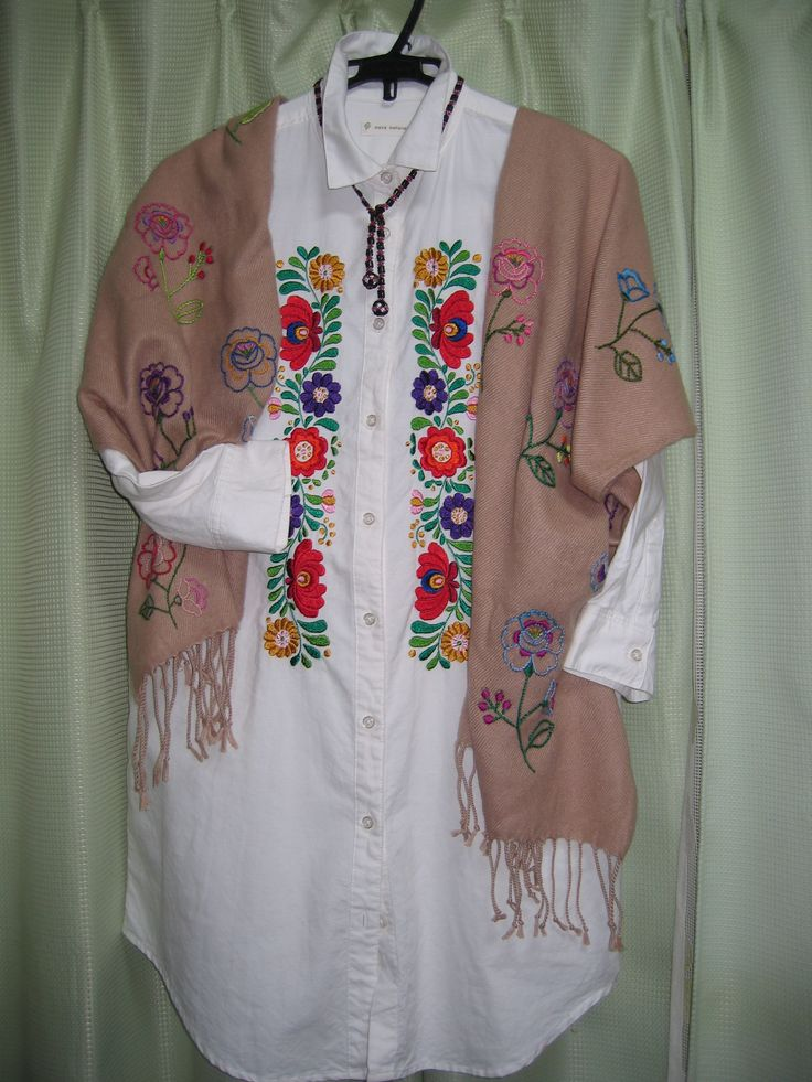 Hungarian embroidery on my shirt and stole