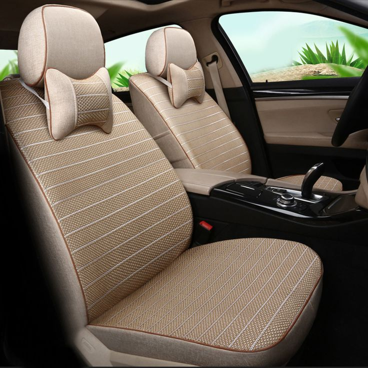 Breathable Linen Fabric & Ice Silk Car Seat Cover Sets Custom Auto Seat Protectors for Audi a5 Interior Seat Covers Cars Style #Affiliate