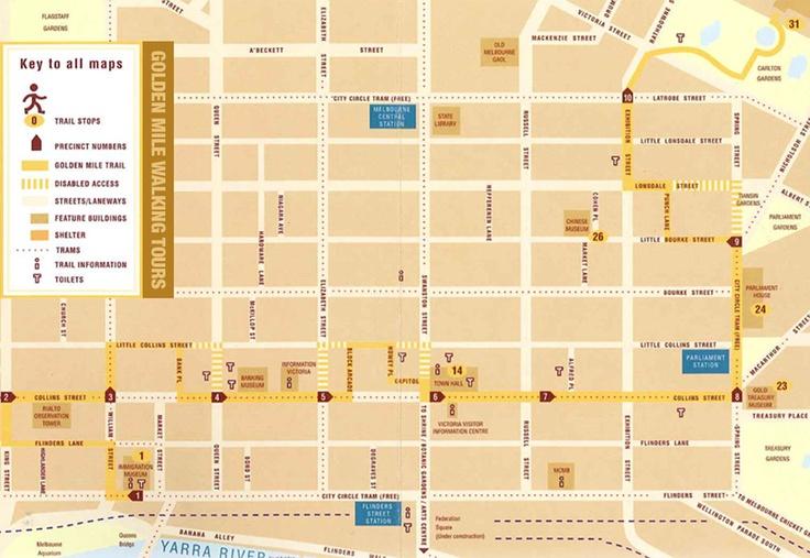 Melbourne Golden Mile Tour Map