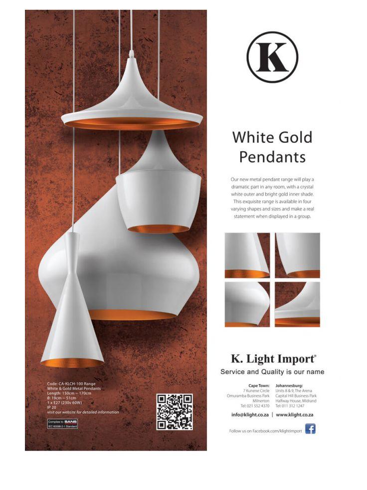 <p><b>White Gold Pendants<br />  </b>Garden & Home<br />  House & Leisure<br />  Conde Naste & Garden<br />  Elle Decor<b><br />  </b></p>