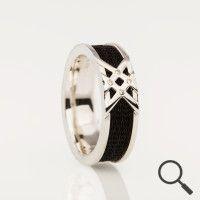 Horsehair ring Cavaletti Star, Ribbon 6mm the original collection www.nannasalmi.com