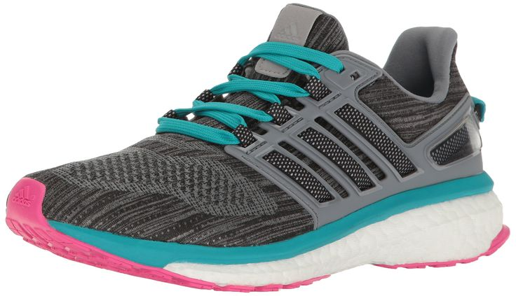 adidas Performance Women's Energy Boost 3 W Running Shoe, Vista Grey White/Mid Grey S, 10.5 M US