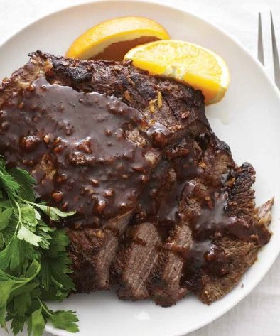 Kosher recipe: Garlic Honey Brisket | Gourmet Kosher Cooking