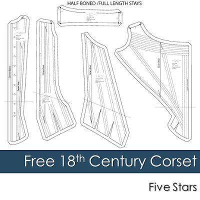 Free 18th Century Corset Pattern | Diary of a Renaissance Seamstress