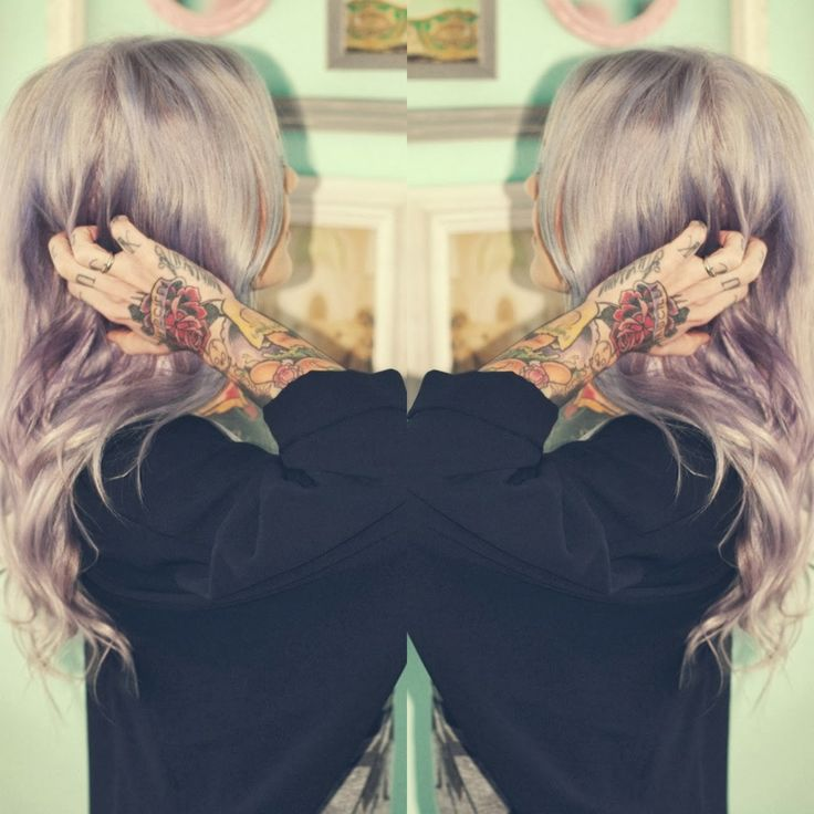 Silvery Purple Hair