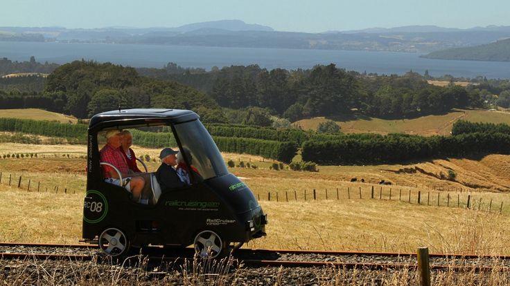 Rotorua NZ   RailCruising - Self-drive Rail Cars