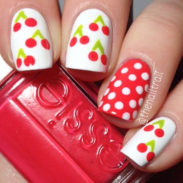 Cherry #nailart! I'm finally back up and running. Thanks so much for your patience, ❤️you guys!!                                                                                                                                                                                  More