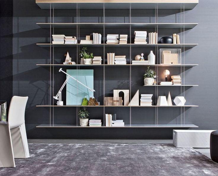 ... su Pinterest  Scaffali Per Libri, Parete Attrezzata e Libreria A Muro