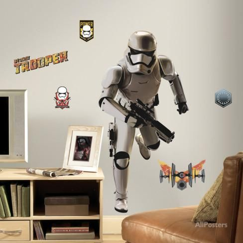 Fabulous Star Wars Ep VII Storm Trooper Peel u Stick Giant Wall Decal