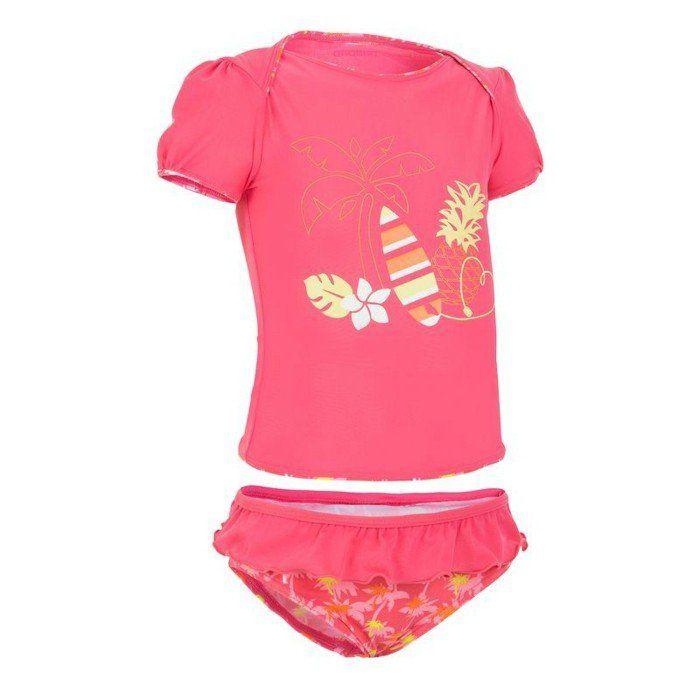 maillot de bain fille Decathlon 0-2 ans motifs Hawaii