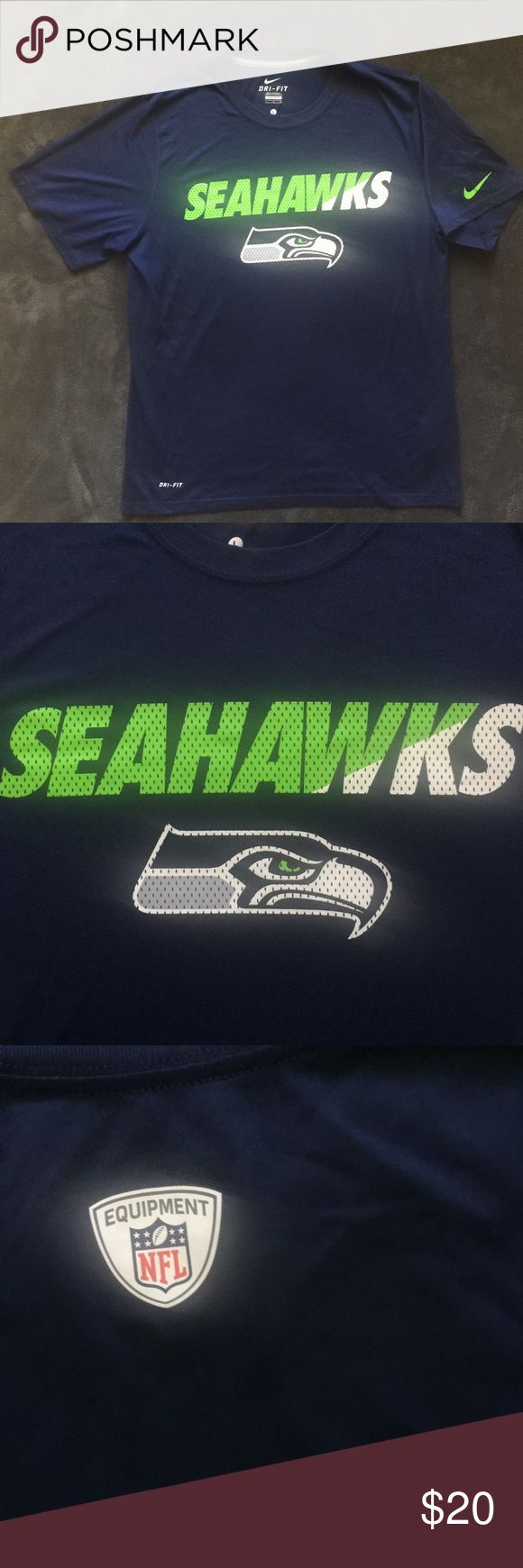 Nike NFL Dry Fit Seattle Seahawks L T Shirt Great look pet free smoke free no errors Nike Shirts Tees - Short Sleeve