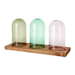 IKEA - HÄRLIGA, Glass dome with base, The glass dome with base can be used to display your favorite decorative items.