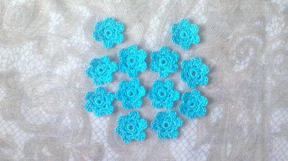Gehäkelte Blumen 12 Stück Häkelblumen in