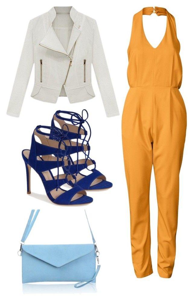 """""""Me gusta mucho la combinación, de las tonalidades de azul y el naranja eléctrico, justo para estos días y más para darle color a la noche"""" by damarislondon on Polyvore featuring moda, Fashion Union y Steve Madden"""