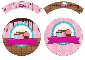 Girls Cooking Cupcakes: Free Printable Wrappers and Toppers.