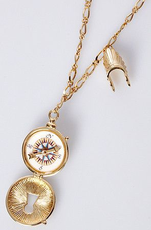 compass locket necklace by disney couture jewelry