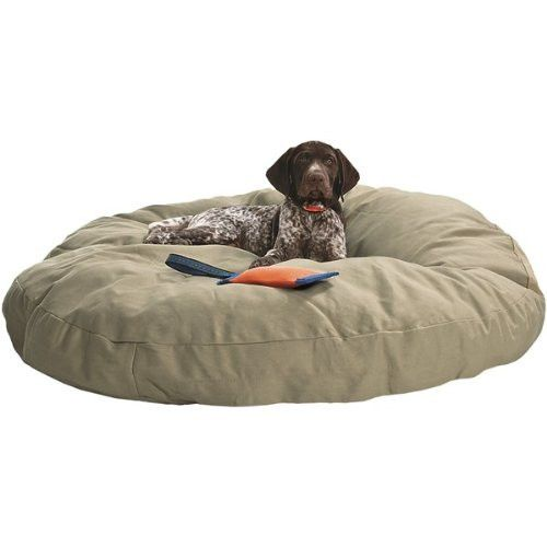 Dog Bed Round Canvas Linen 40 Puppies So Cute