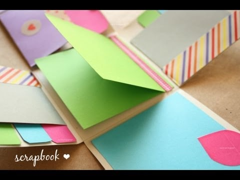 Minibook - idea Scrapbook ~ mini Album FACIL - Dia de los enamorados - YouTube