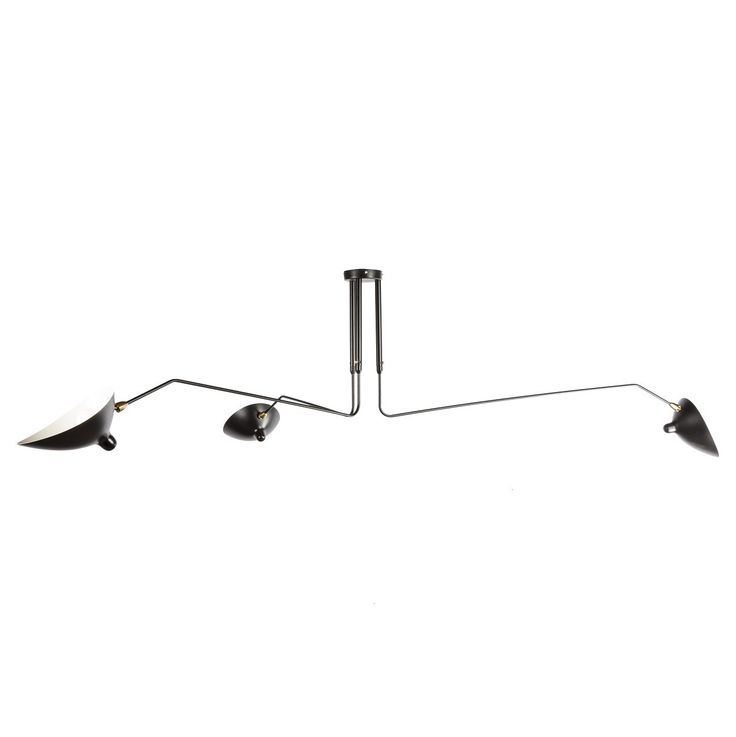 three arm mcl r3 ceiling lamp an icon of french design originally. Black Bedroom Furniture Sets. Home Design Ideas