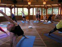 At Miljelia, yoga!