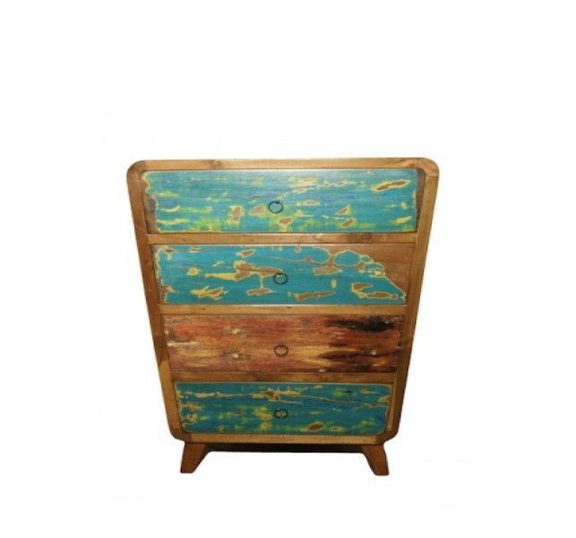 Komoda, szafka Indonesia, drewno tekowe 100x70 cm - ARCHIZONA - Komody