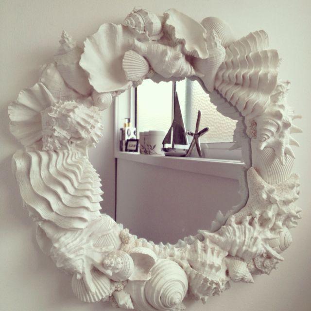 Sea shell mirror.                                                                                                                                                     More