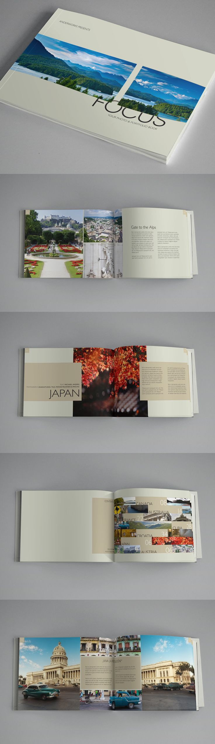 Focus - Photo & Portfolio Book Template - Brochures - Creattica