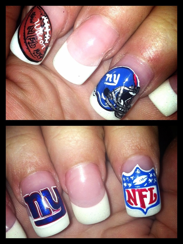 11 best NY giants nails!! images on Pinterest | Belle nails, Cute ...