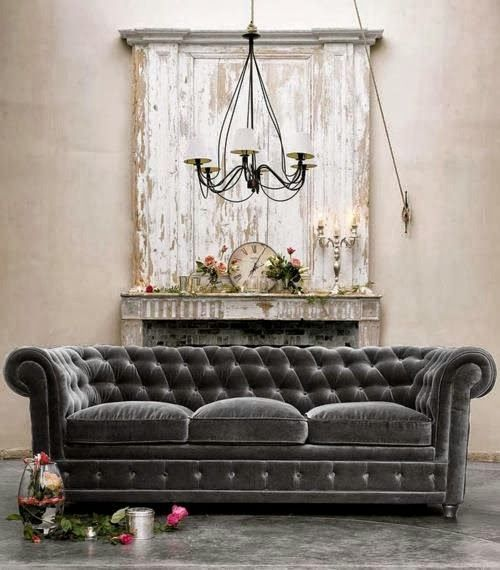 beautiful gray velvet sofa