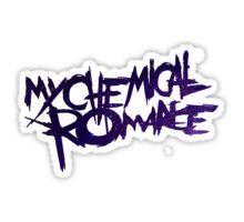 galaxy my chemical romance logo Sticker