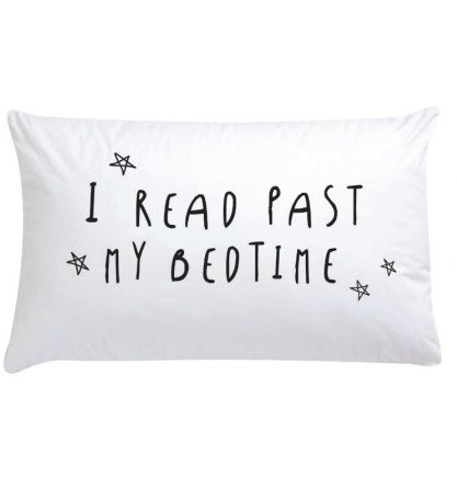 Blossom Books Bed Pillow I read past my bedtime