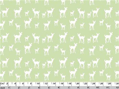 Deer - mint green organic cotton fabric by Copenhagen Print Factory $4.75 #organicfabric #copenhagenprintfactory