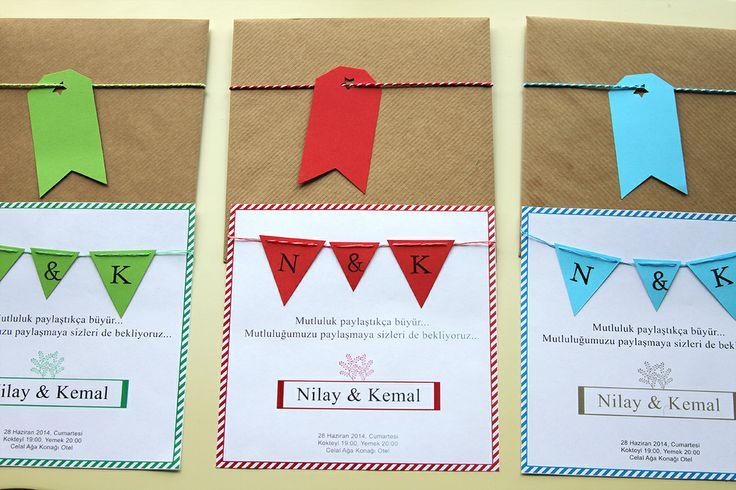 Wedding invitation - Festival Flags