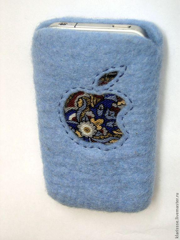 """Купить Чехол для iPhone 4 """"Русский стиль"""". Войлок, павловопосадский платок - орнамент, чехол для телефона"""