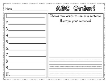 1000 images about abc order on pinterest alphabetical order literacy centers and worksheets. Black Bedroom Furniture Sets. Home Design Ideas