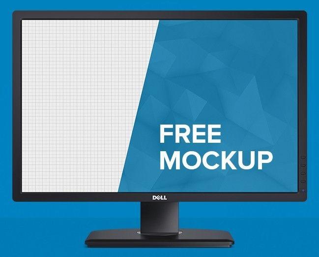 Free Dell Monitor Mockup Psd Titanui Mockup Psd Mockup Mockup Free Psd