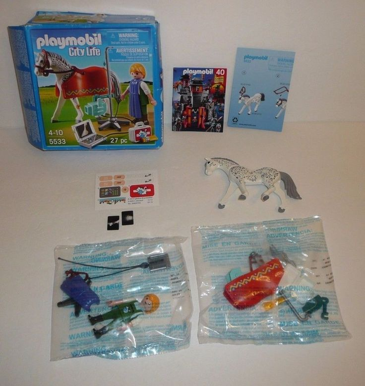 Playmobil Set #5533 - Veterinarian Tech Figure with XRay Machine - Complete City #Playmobil