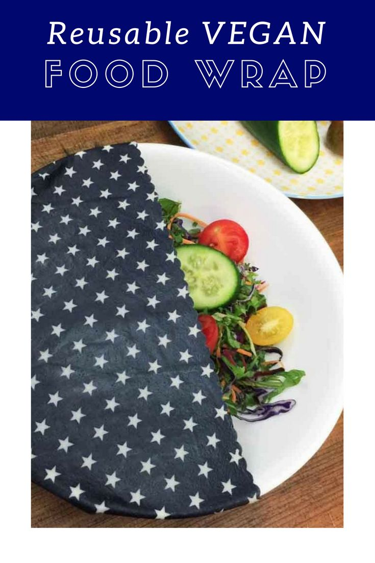 Wrappa Reusable Jumbo Vegan Food Wrap are plant based and made using 100% cotton, two plant waxes (candelilla and soy), tree resin and jojoba oil.