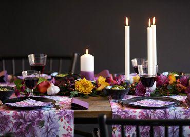 Beautiful autumn table setting
